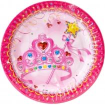 Набор тарелок бумажных Princess, диаметр 17,78 см