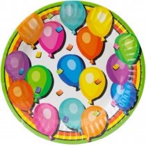 Набор тарелок бумажных Balloons, диаметр 17,78 см