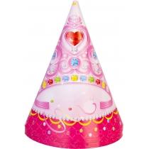 Набір з 6 ковпаків на голову із гумовою стрічкою Princess, висота 15,24 см