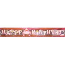 """Гірлянда-банер Princess """"Happy Birthday"""" 12,5х360 см"""