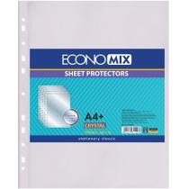 """Файл для документів А4+ Economix Crystal, фактура """"глянець"""" (100 шт/уп)"""