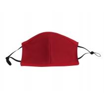 Маска текстильна багатооразова з фіксацією Червона, розмір М