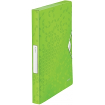 Папка-бокс на резинці  Leitz WOW, A4 PP, колір зелений металік
