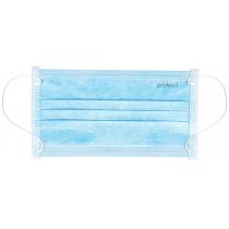 Маскамедична Protectблакитно-біла 3шариSMS 50штукв упаковке