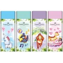 Гумка Faber-Castell Pastel Happy Jungle вініловий кольоровий в картонному футлярі