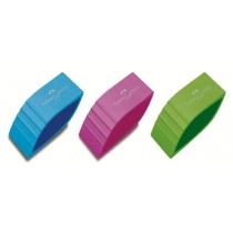 Гумка Faber-Castell BICOLOR вініловий кольоровий асорті