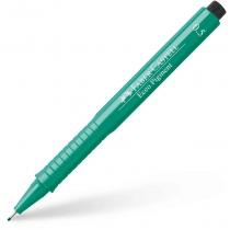 Ручка капиллярная для графических работ Faber-Castell Ecco Pigment, диаметр 0,5 мм, цвет зеленый