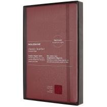 Записник Moleskine Leather 13 х 21 см / Лінійка Бордо