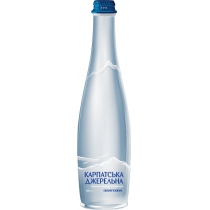 Вода мінеральна Карпатська Джерельна, сильногазована  пляшка скляна 0,5 л