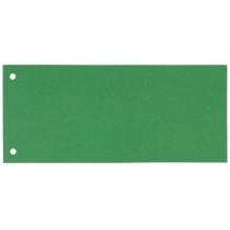Розділювачі сторінок-закладки картонні Esselte зелені, 100 штук