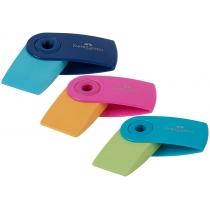 Гумка Faber-Castell Mini SLEEVE TREND в пластиковому чохлі кольоровий
