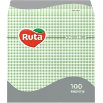 Серветки Ruta одношарові 24х24см зелені 100шт