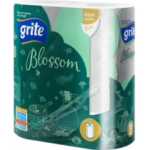 Рушники Grite  Blossom 2 рулони 2 шари білі