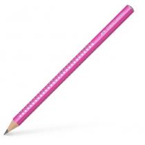 Олівець чорнографітний потовщений Faber-Castell Jumbo Grip Sparkle 2001 корпус рожевий