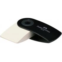 Гумка  Faber-Castell SLEEVE Mini вінілова біла в чорному пластиковому чохлі