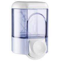 Дозатор рідкого мила Mar Plast  0.35 л, білий/прозорий, пластик