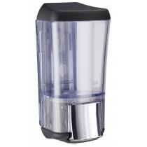 Дозатор жидкого мыла Kalla 0.17 л, черный / прозрачный, пластик