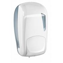 Дозатор рідкого мила LINEA SKIN 1 л, білий/прозорий, пластик