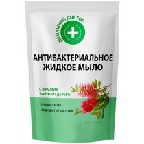 Жидкое мыло Домашний доктор  Антибактериальное с маслом чайного дерева дой-пак 460мл