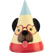 Набір Happy Dogs з 6 ковпаків на голову із гумовою стрічкою