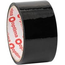 Лента клейкая упаковочная (скотч) Optima, черная, 48мм*30м