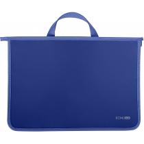 Портфель пластиковый  А4 на молнии, синий