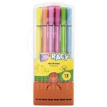 Фломастеры Racy, 12 цветов