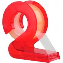 Диспенсер пластиковий 2D з клеючою стрічкою в блістері, 19мм*10м