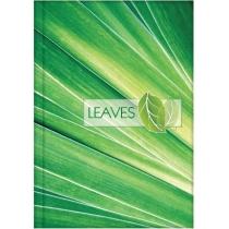 """Канцелярська книга """"Малюнки природи. Leaves"""" А4, лінійка, 96 арк."""