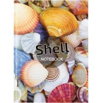 """Канцелярська книга """"Малюнки природи. Shells"""" А4, клітинка, 96 арк."""