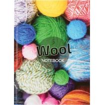 """Канцелярська книга """"Малюнки природи. Wool"""" А4, клітинка, 96 арк."""