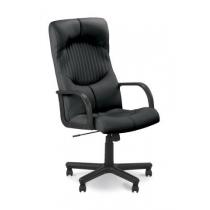 Кресло GERMES, SP-A, с элементами кожи, черное, Украина