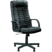 Кресло ATLANT, SP-A, с элементами кожи, черное, Украина