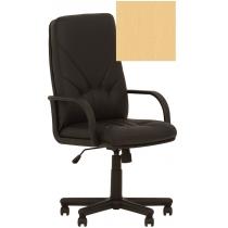 Кресло MANAGER P ECO-01, Экокожа ECO, бежевый, Пластю База, Пласт. Подлокот