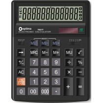 Калькулятор настільний Optima, 16 розрядів, розмір 200*154*36 мм