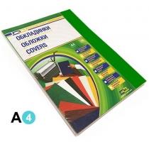 """Обкладинка картонна """"під шкіру"""" DA, А4, 100шт, 250мкм, зелена"""
