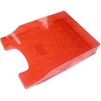 Лоток горизонтальный Arnika Симметрия, ярко-красный, 340х250х60