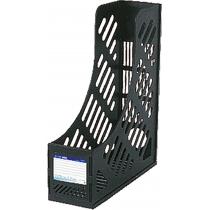 Лоток вертикальный сборный Economix, 1 отделение,  черный, 260х84х305