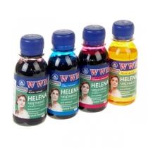 Комплект чернил для HP, Helena.Set-2, B/C/M/Y, 4х100 г.