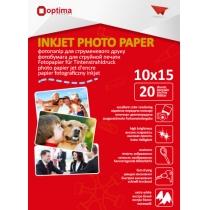 Фотобумага Optima 10х15см, глянцевая, 150 г/м2, 20 л.