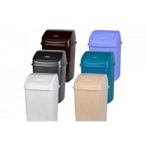 Ведро 10л с поворот крышкой, пластиковое, цвет ассорти