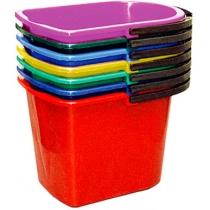 Ведро 14л прямоугольное, пластиковое, цвет ассорти