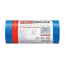 Пакеты для мусора PRO service прочные, 60л/40шт, синий