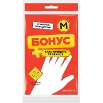 Перчатки резиновые универсальные размер M БОНУС