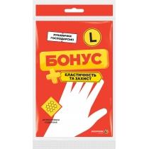 Перчатки резиновые универсальные размер L БОНУС