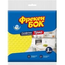 Салфетка целлюлоза 3 шт Трио Фрекен Бок