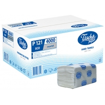 Полотенца бумажные 1 слой V сложения ТИША, 200 шт, серые