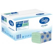 Рушники паперові 1 шар V складання ТІША, 200 шт, зелені