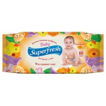 Серветки вологі для дітей і мам Super Fresh 60 шт