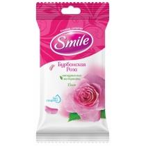 Серветки вологі Дейлі бурбонская троянда Smile 15 шт